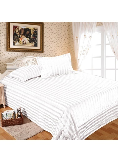 Maxstyle Shınny Fluffy Krem Soft Yatak Örtüsü Krem